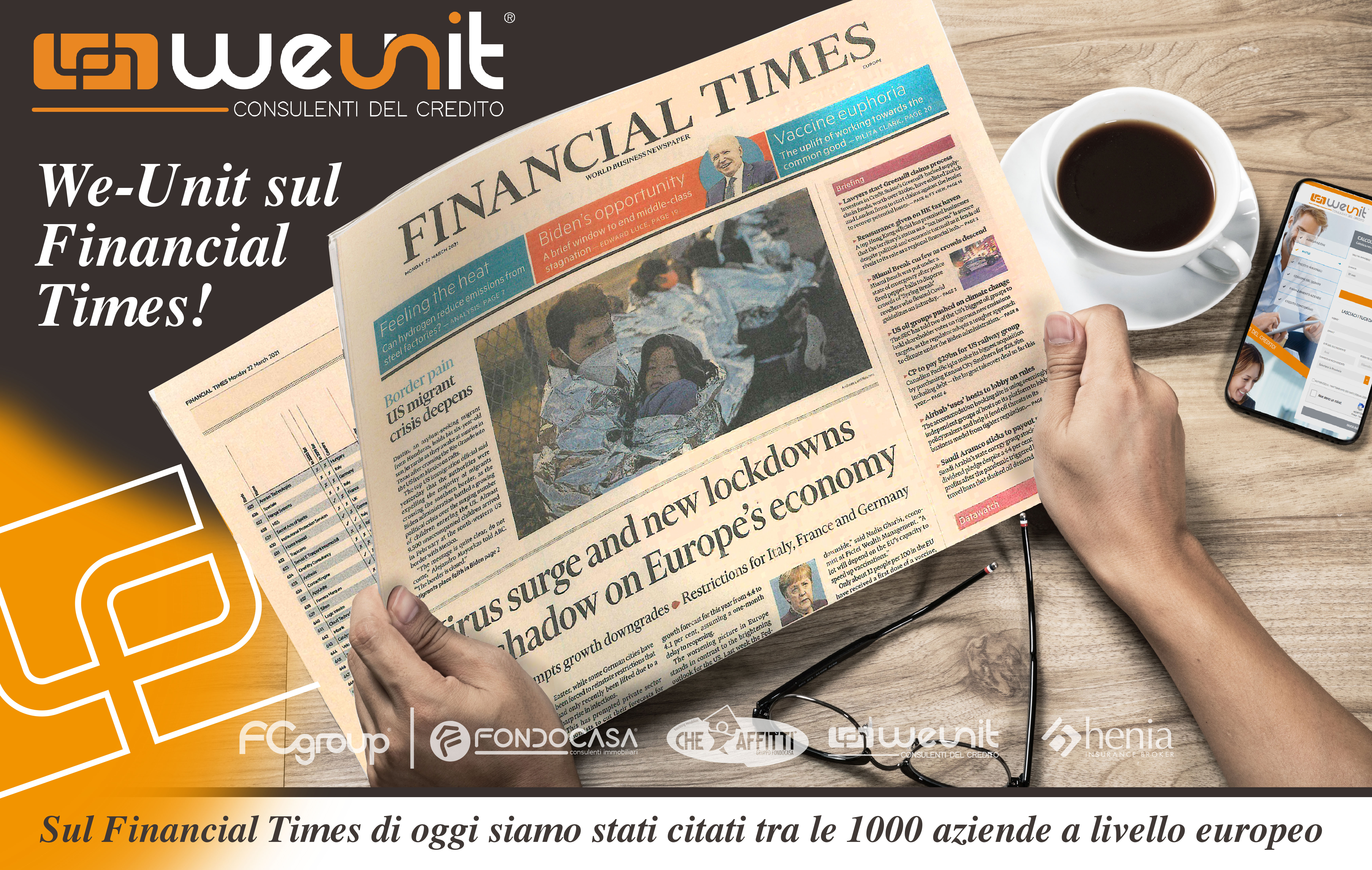 Weunit sul Financial Times